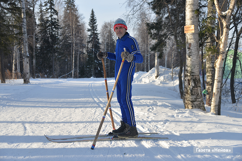 Юрий Попов, 87-летний лыжник